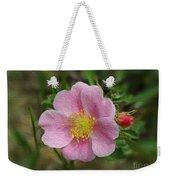 Alberta's Wild Rose Weekender Tote Bag
