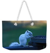 Albino Squirrel Weekender Tote Bag