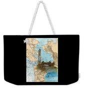 Alcatraz Island Lighthouse Ca Nautical Chart Map Art Weekender Tote Bag