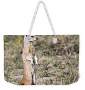 Alert Yellow Mongoose Weekender Tote Bag