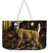 Whitetail Deer - Alerted Weekender Tote Bag