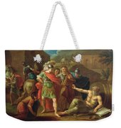 Alexander The Great Visits Diogenes At Corinth, 1787 Oil On Canvas Weekender Tote Bag