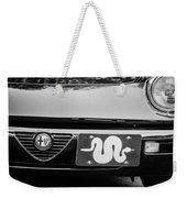 Alfa Romeo Grille Emblem -0287bw Weekender Tote Bag