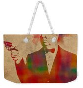 Alfred Hitchcock Watercolor Portrait On Worn Parchment Weekender Tote Bag