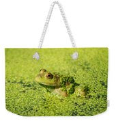 Algae Covered Frog Weekender Tote Bag