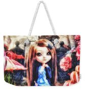 Alice In Wonderland Weekender Tote Bag by Mo T