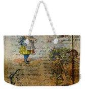 Alice's Adventures Weekender Tote Bag