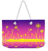 Alien Fire Flowers Weekender Tote Bag