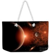 Alien Sunrise On A Distant Alien World Weekender Tote Bag