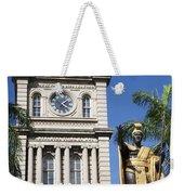 Aliiolani Hale And Kamehameha Weekender Tote Bag