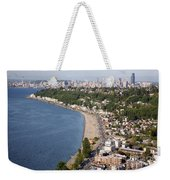 Alki Beach And Downtown Seattle Weekender Tote Bag