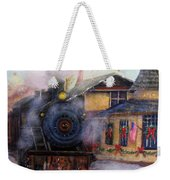 All Aboard At The New Hope Train Station Weekender Tote Bag