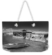 All Aboard Black And White Weekender Tote Bag