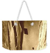 All Caught Up Sepia Weekender Tote Bag