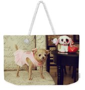 All Dressed Up Weekender Tote Bag by Laurie Search