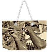 All That Jazz Sepia Weekender Tote Bag