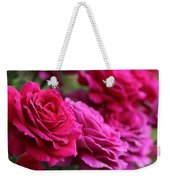 All The Fuchsia Pink Roses  Weekender Tote Bag