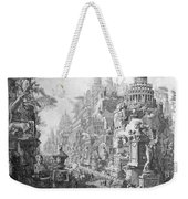 Allegorical Frontispiece Of Rome And Its History From Le Antichita Romane  Weekender Tote Bag
