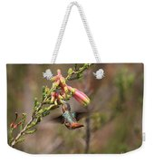 Allen Hummingbird In Flight Weekender Tote Bag