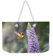 Allen Hummingbird On Flower Weekender Tote Bag