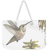 Allen's Hummingbird And Aloe Weekender Tote Bag