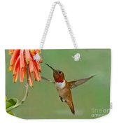 Allens Hummingbird At Flowers Weekender Tote Bag