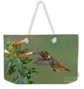 Allens Hummingbird Feeding Weekender Tote Bag