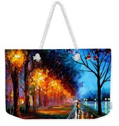 Alley By The Lake 2 - Palette Knife Oil Painting On Canvas By Leonid Afremov Weekender Tote Bag
