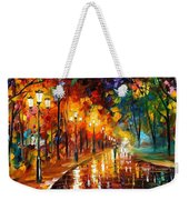 Alley Of The Memories - Palette Knife Oil Painting On Canvas By Leonid Afremov Weekender Tote Bag