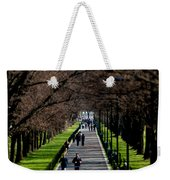 Alley Of Trees With Runners And Joggers Weekender Tote Bag