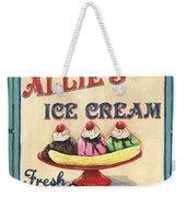 Allie's Ice Cream Weekender Tote Bag by Debbie DeWitt