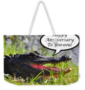 Alligator Anniversary Card Weekender Tote Bag
