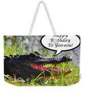 Alligator Birthday Card Weekender Tote Bag