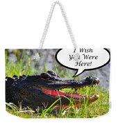 Alligator Greeting Card Weekender Tote Bag by Al Powell Photography USA