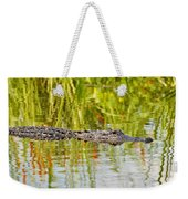 Alligator Reflection Weekender Tote Bag by Al Powell Photography USA