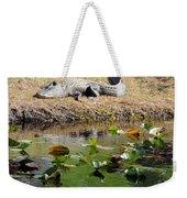 Alligator Sunbathing Weekender Tote Bag