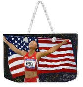 Allison Felix Olympian Gold Metalist Weekender Tote Bag