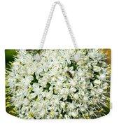 Allium Flower And Lightning Bug Weekender Tote Bag