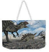 Allosaurus Dinosaurs Moving In To Kill Weekender Tote Bag