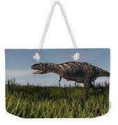 Alluring Aucasaurus In Grassland Weekender Tote Bag