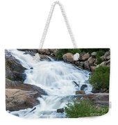 Alluvial Fan Falls On Roaring River In Rocky Mountain National Park Weekender Tote Bag