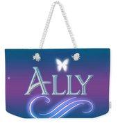 Ally Name Art Weekender Tote Bag