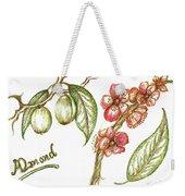 Almond With Flowers Weekender Tote Bag by Teresa White
