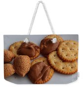 Almonds - Almond Butter - Crackers - Food Weekender Tote Bag