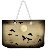 Almost Full Moon And Crows Weekender Tote Bag