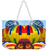 Almost Inflated Hot Air Balloons Mirror Image Weekender Tote Bag