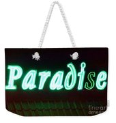 Almost Paradise Neon Sign Weekender Tote Bag