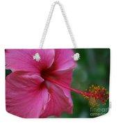 Aloha Aloalo Ulu Wehi Pink Tropical Hibiscus Wilipohaku Hawaii Weekender Tote Bag