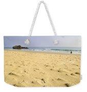 Alone At Bolonia Beach Weekender Tote Bag