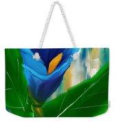 Alone In Blue- Calla Lily Paintings Weekender Tote Bag